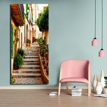 Oil effect painting picture paint coloring on canvas painting big wall art paint landscape FA381