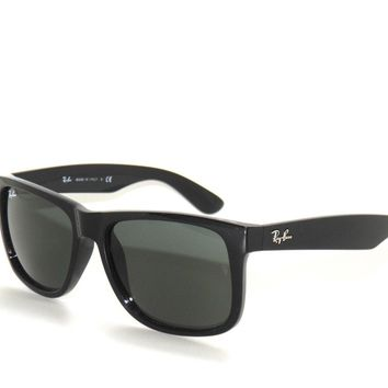 SALE~RAY BAN SunglaSSeS 4165 JUSTIN BLACK/GREEN 601/71 RAYBAN