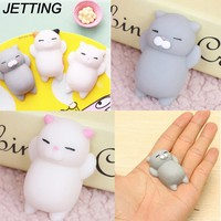 Ushihito Cartoon Kawaii Mochi Animal Squishy Bread Lazy Sleep Cat pussy Slow Rising squishies for Phone Strap Case Kid Toy