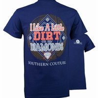 Dirt on My Diamonds - Baseball - Adult T-Shirt