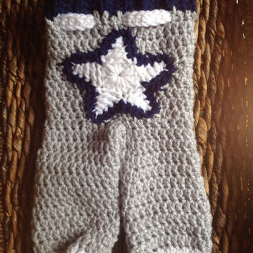 Crochet Baby Dallas Cowboys Pants