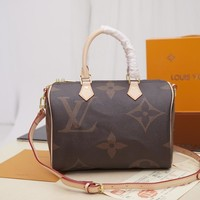 Kuyou Lv Louis Vuitton Fashion Women Men Gb2966 M41112 Monogram Comes In Handy Top Handles Speedy Bandouliere 30 30*21*17cm