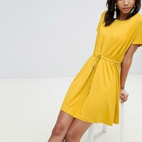 French Connection Jersey Tie Detail Dress at asos.com
