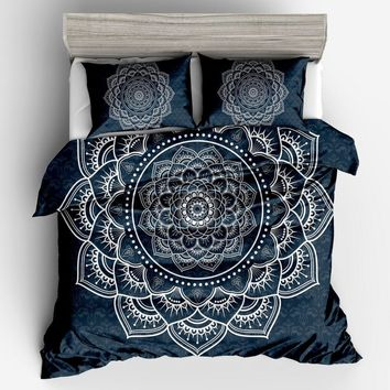 Cool fashion Bohemia Blue red white quilt /Duvet Cover Set luxury Home Textiles  size Twin Full Queen King Bedding Outlet Bedding SetAT_93_12