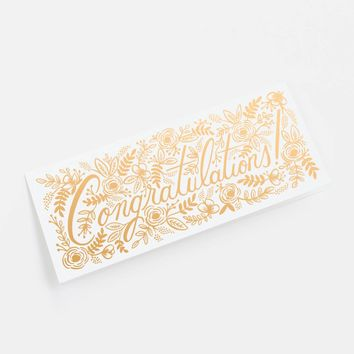 Champagne Floral Congrats Greeting Card by RIFLE PAPER Co. | Made in USA