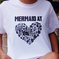Mermaid At Heart Graphic Tee. Mermaid Shirt. I'm A Mermaid T-Shirt.