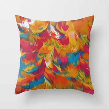 Psychedelic Throw Pillow by DuckyB (Brandi)
