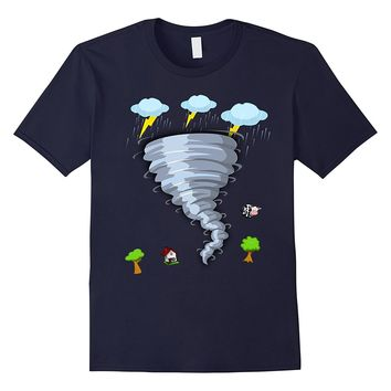 Cool Storm Tornado Hurricane Weather Rain Lightning T-shirt