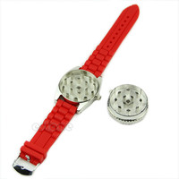 4:20 Watch Shaped Grinder Rotating Wheel Grinding Tobacco Cigarette Crusher
