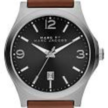 Marc by Marc Jacobs Danny Black Dial Brown Leather Mens Watch MBM5039