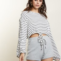 Gianna Striped Drawstring Top