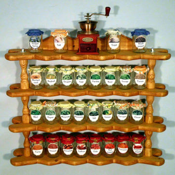 Spice shelf,rustic shelves, display shelving, shelving system,wall shelves, desing shelf