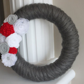 Year Round Wreath, Christmas Wreath, Silver Christmas Wreath, Silver Wreath, Christmas Decor, Grey Christmas Wreath, Grey Wreath, Gift