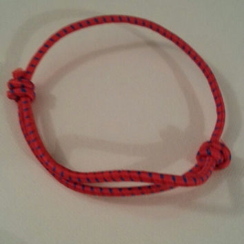 Red and blue 550/325 paracord parachute cord adjustable bracelet