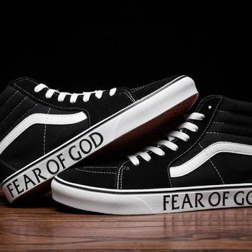 Fear of God x Vans Sk8-Hi Canvas Flat Sneakers Sport Shoes