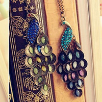 Jewels retro peacock necklace sweater chain [necklace33] - $3.89 : Favorwe.com Supply all kinds of cheap fasion jewelry