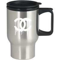 Chanel White For Stainless Travel Mug *