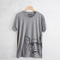 Perry the Pig - Tri-Blend Unisex Crew