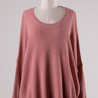 Cable Knit Sweater Salmon Pink