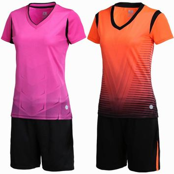 New Women sports Breathable Soccer Set running Customize Team game Soccer Jerseys Uniforms Kit Female Football Shirt Tracksuit