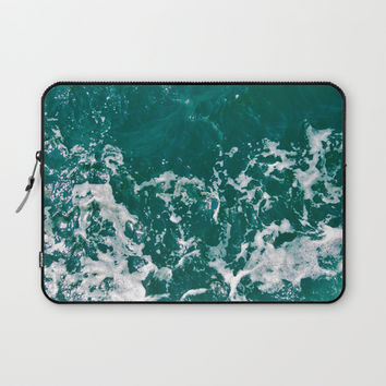 Emerald Waters Laptop Sleeve by ARTbyJWP