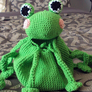 Crochet Amigurumi Frog Backpack/Pouch