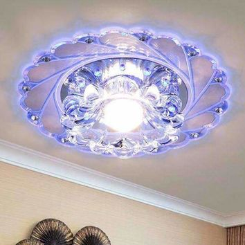 New Modern Crystal LED Saving Efficient Ceiling Blue flower  Light Superior Lamp Fixture Fashion Chandelier