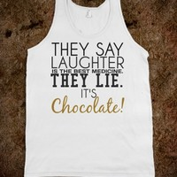 Laughter the best medicine no chocolate tank top tee t shirt tshirt