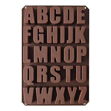 Letters Silicone Molds Chocolate Fondant Cake Decorating Tools Biscuit Moulds DIY Desserts Baking Mold Tools
