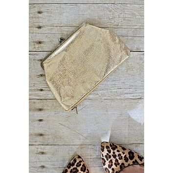 Vintage Gold  Petite Cosmetic Clutch