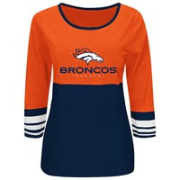 Majestic Denver Broncos Roster Rush Fashion Top - Women's, Size: