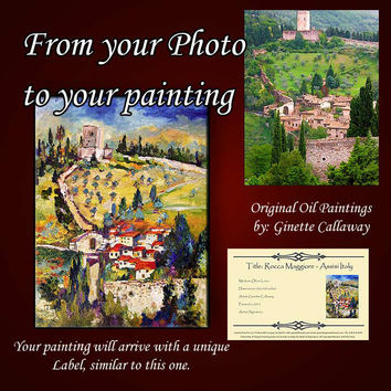 Italy France Landscapes Cities Places Churches Animals Flowers Custom Impressionist Commission Art Original Impasto Oil Paintings