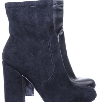 Namaste07 High Block Heel Dress Ankle Bootie