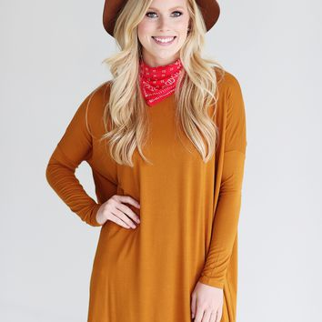 Gold PIKO Long Sleeve Tunic