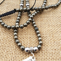 Pyrite Men Mala 108 Men Mala Spiritual Meditating Namaste Om Yoga Men Mala Necklace Yogi Gifts