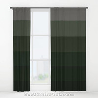 Campside Ombre WINDOW CURTAINS Decorative House Home Art Decor Gift Drapes Treatment Him Guy Crisp Dark Forest Green Timber Hunter Ash Gray