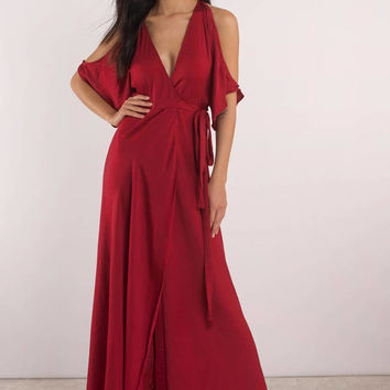 Love Again Cold Shoulder Maxi Dress