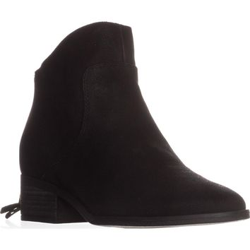 Lucky Brand Lahela Ankle Boots, Black Leather, 9 US / 39 EU