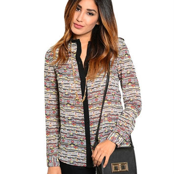 STYLISH ABSTRACT TOP