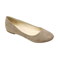 Women's Stacy-12 Round Toe Slip On Ballet Flat Shoes