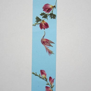 "Handmade unique bookmark ""Listen to your nose"" - Pressed flowers bookmark - Unique gift - Paper bookmark - Original art collage."