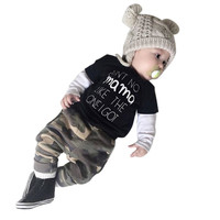 Kids Clothing Set! Baby Boys Long Sleeve Toddler Outfit Clothes T-Shirt Top+Pants Trousers Infant 2PCS Set