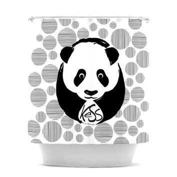 "KESS Original ""Panda"" Shower Curtain"