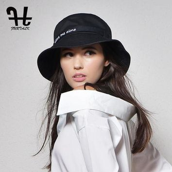 CREYONV Furtalk Women's fashion Summer brand Sunhat Embroidery Cotton Bucket Hat for women with Big Fold-up Brim Packable Hats