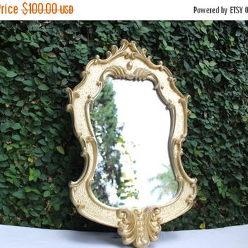 ON SALE Hollywood Regency Vintage Mirror / Vintage  Ornate Gold Mirror / Ornate Gold Mirror