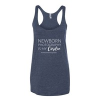 Newborn Photography Is My Cardio |  Women's Tank Top - Vintage Navy Blue