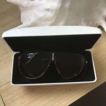 CREYON Versace Sunglasses Authentic Brown Frame Used Women¡¯s
