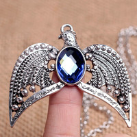 Harry Potter Handmade Ravenclaw's Diadem Crown Headdress With Blue Crystal Necklace