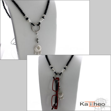 Black Specs Necklace   Adjustable Lengths Necklace   Smart Fun Necklace  Trends by Kalitheo Creations KTC df0e6bca21bc