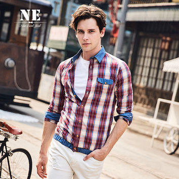 Winter England Style Plaid Long Sleeve Stylish Shaped Shirt [7951208643]